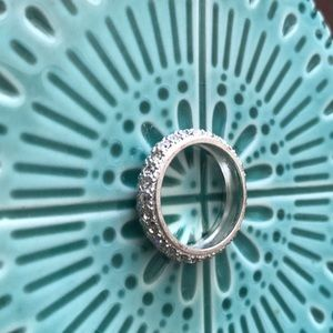 Sterling silver and crystal ring